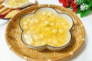 Cách nấu chè đậu xanh hạt sen nước cốt dừa thơm ngon giải nhiệt