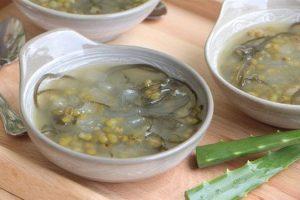 Cách nấu chè đậu xanh nha đam rong biển ngon bổ dưỡng