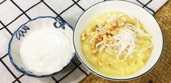 Thưởng thức chè đậu xanh đánh nước cốt dừa