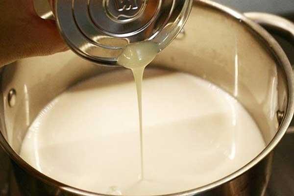 cách làm kem chuối sữa tươi, sữa đặc