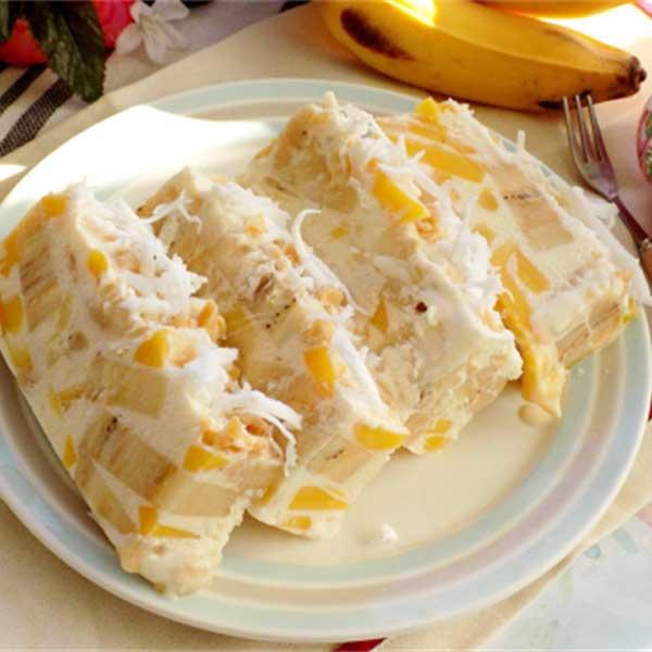 kem chuối xay nước cốt dừa