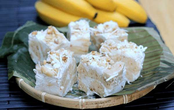thưởng thức kem chuối xay nước cốt dừa