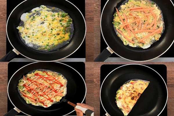 Cách làm bánh tráng nướng bằng chảo chống dính