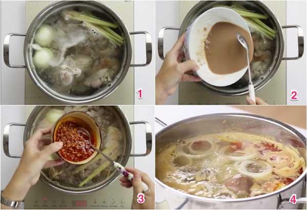 Cách nấu bún bò Huế thơm ngon