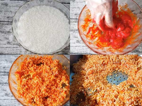 Cách thực hiện nấu xôi gấc nước cốt dừa